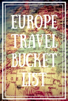 EuropeTravelBucketList